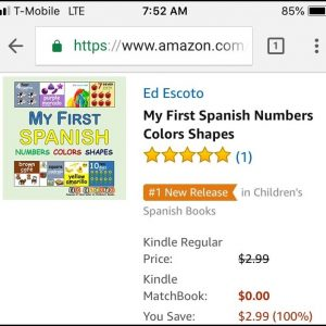 My First Spanish Numbers Colors Shapes - Amazon #1 New Release in Children's Spanish Books